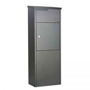 Pakketbrievenbus Allux 650, antraciet/zwart