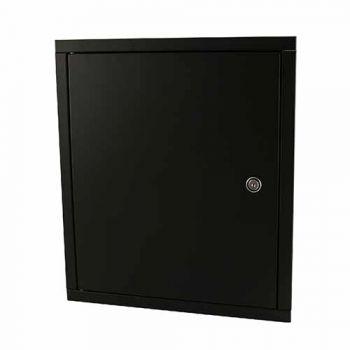 Deurdeel met frame, vlak, zwart